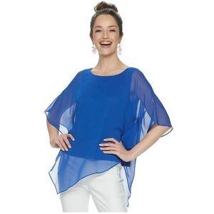NWT asymmetrical poncho blouse